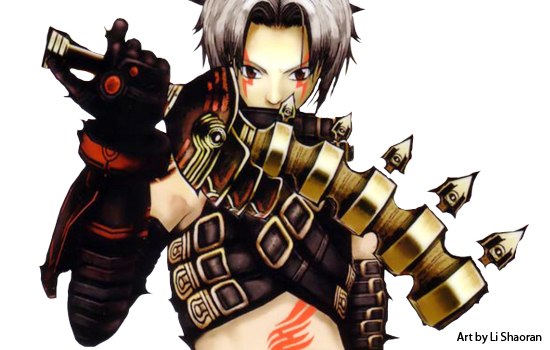 I was commissioned to make Haseo's weapons from the the .hack series.
