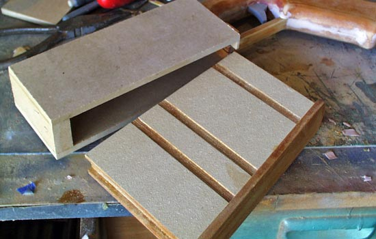 MDF forms the box that holds the magazine.