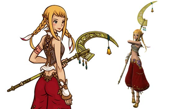 Penelo is one of the playable characters in the video game Final Fantasy XII. I was commissioned to create her magical staff.