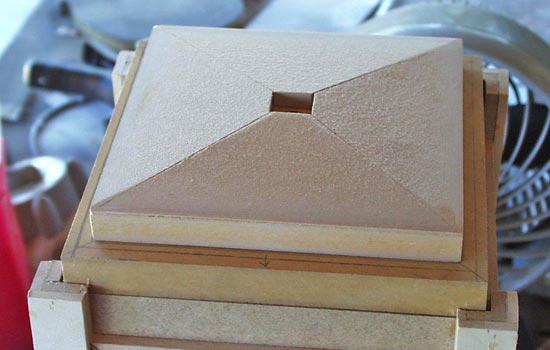 I cut the roof out of 1/2″ MDF on the table saw.
