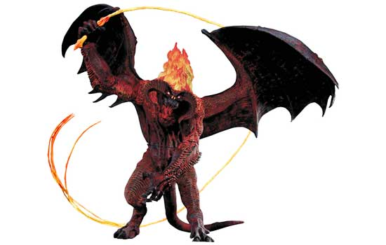 Last year NECA Toys came out with a fantastic Balrog (from Lord Of The Rings) that I couldn't resist. He stands 24″ tall and has a wings span of 42″! Unfortunately he is so top heavy, within a few days his legs would bend and he would fall over. The Balrog spent the next 9 months face down on the living room floor until I could devise a solution.