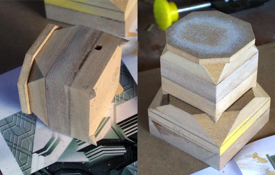 I laminated sections of MDF together to make the sections of the column.