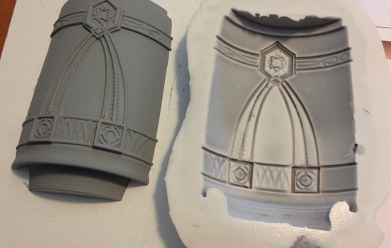I used the same strategy to detail the end band, applying styrene to a cast resin section of the band.
