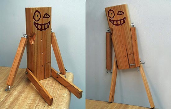 Little Wooden Boy guards the city with an unwavering gaze! Beware naughty spawn! Little Wooden Boy is on the job!