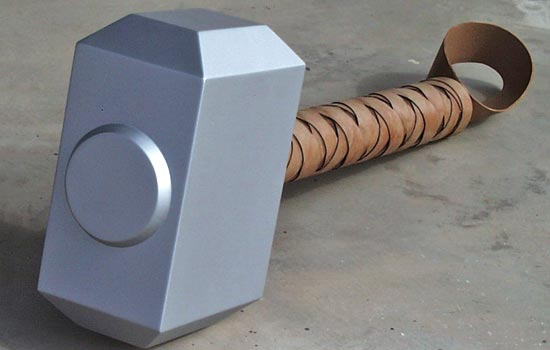The hammer is purposely huge, nearly 24″ long (not counting the loop), and quite heavy.