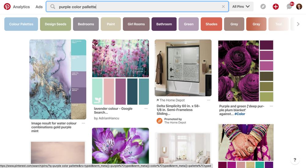 Blogging mistakes. Purple example.