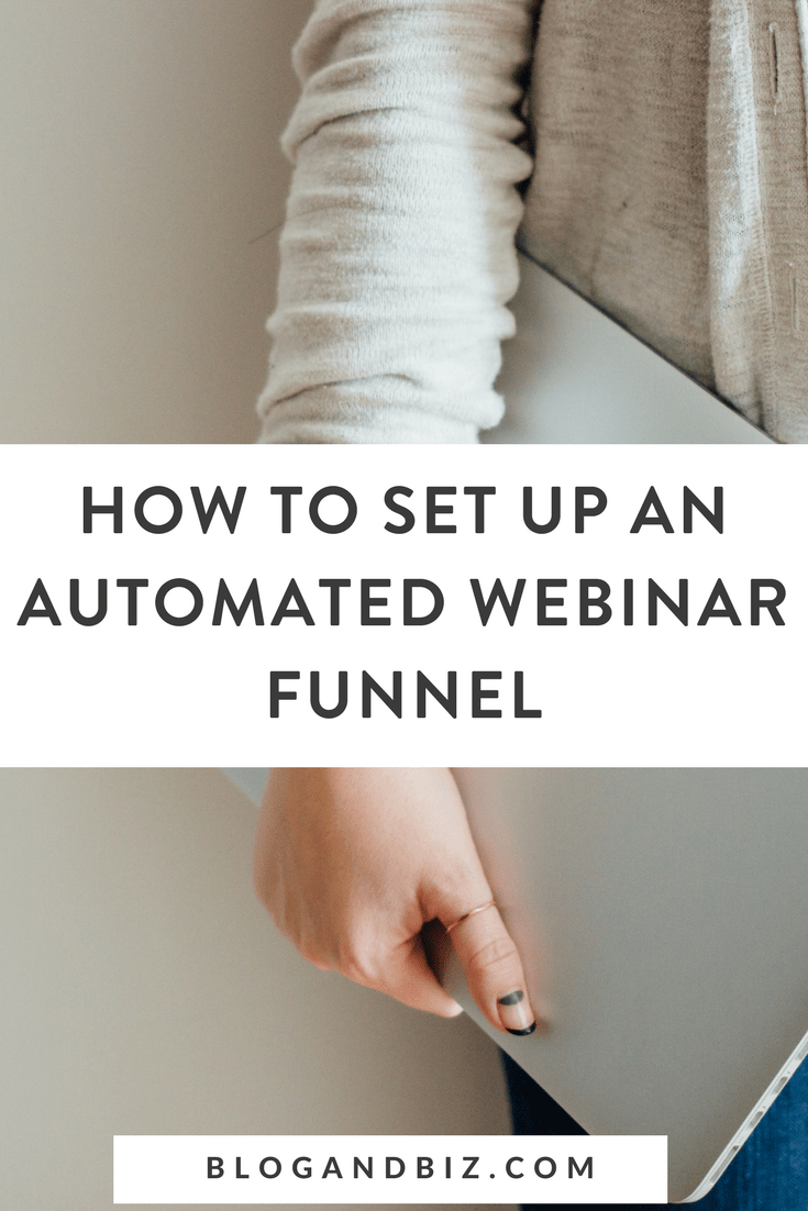 How to Setup an Automated Webinar Funnel. This post is great for bloggers looking to sell evergreen products using an automated webinar funnel! Great blog tips! Click through to read more! #funnel, #emaillists, #blogbiz, #blog, #blogging, #blogger, #blogtips