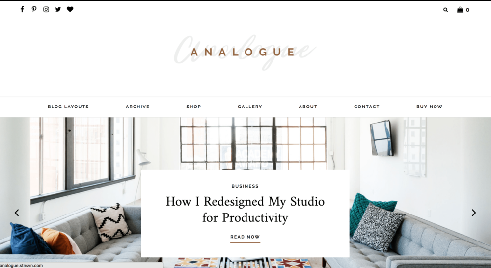 How to STart a Blog Theme Example