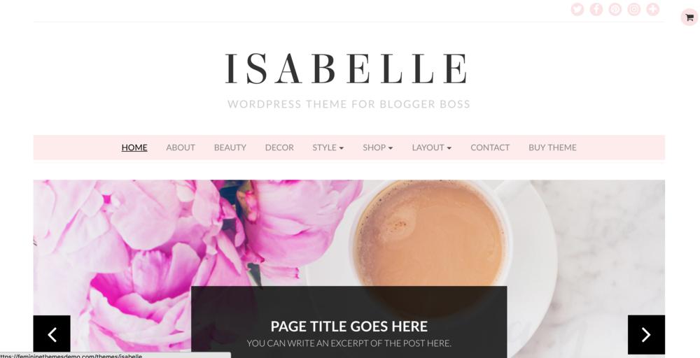 Best WordPress Themes Isabelle