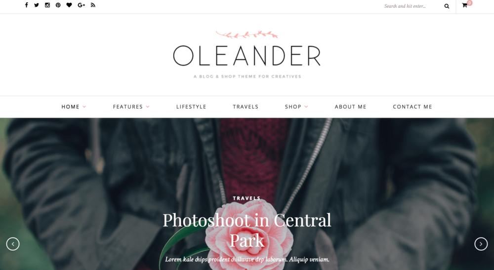 Best Wordpress Themes Oleander
