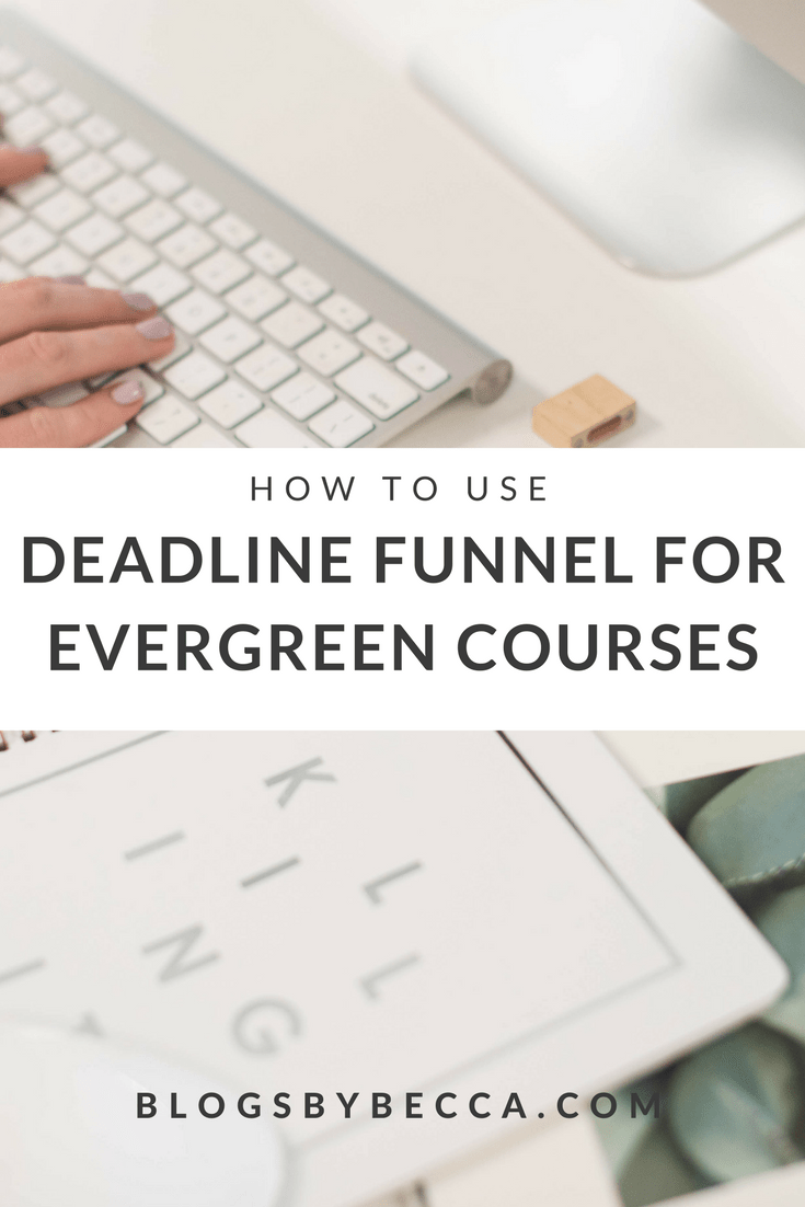 How to add urgency to your evergreen course with Deadline Funnel! Deadline Funnel is a great blog tool for your course! Perfect for bloggers and course creators. Click to get the scoop! #blogbiz, #blog, #blogger, #blogtips, #onlinecourse, #funnels, #emaillist
