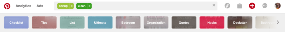 how to spring clean your pinterest account keywords