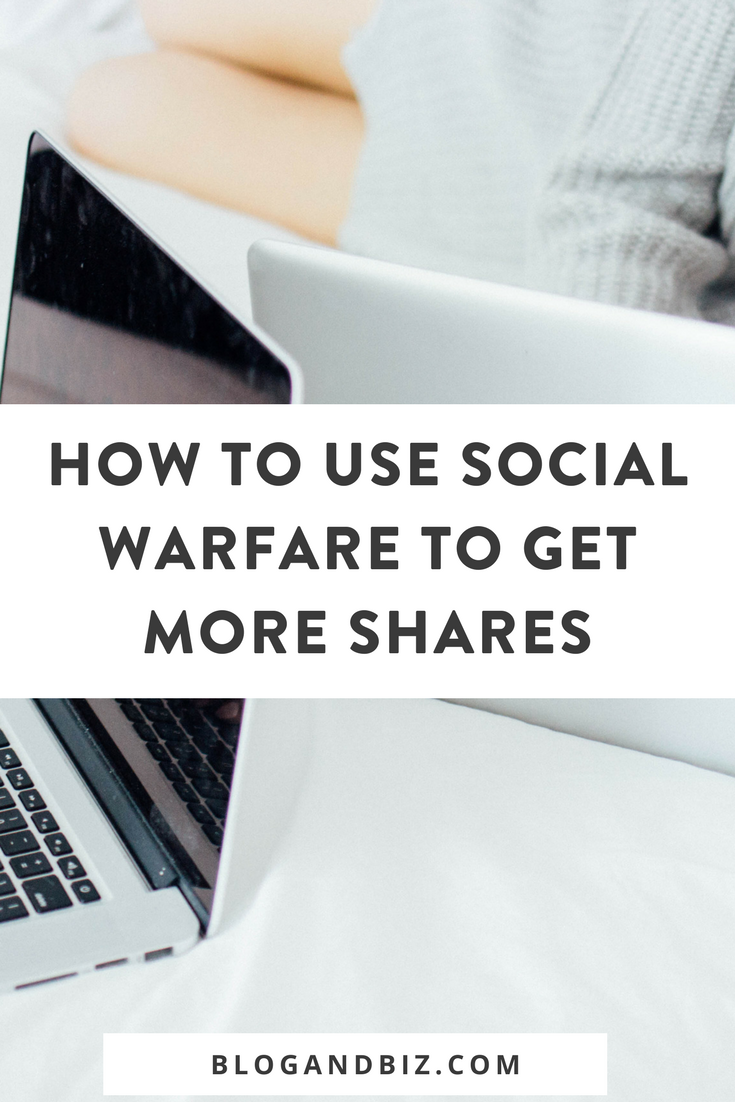 How to se Social Warfare to Get More Social Shares! Get more social media followers with this blog tip! Don't miss out on this Wordpress plugin! Click through to read more! #blog, #blogger, #blogging, #blogtips, #blogbiz, #wordpress
