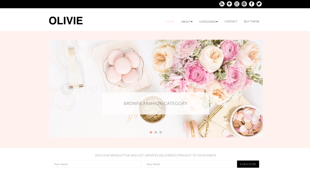 Best Feminine Wordpress Themes for Bloggers Olivie