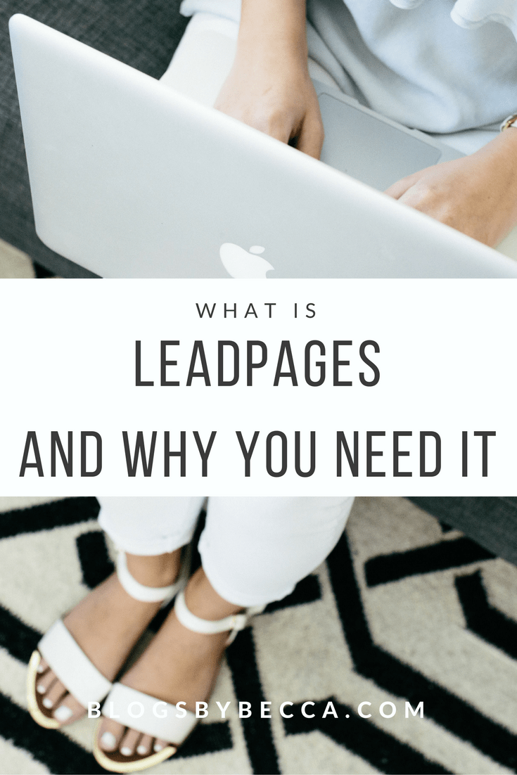 What is Leadpages and Why You Need It. Wow, Leadpages is aweseome! Beginner bloggers should learn all about this to start a blog. Click through for all the blog tips! #blog, #blogger, #blogging, #blogtips, #blogbiz, #leadpages, #emaillist
