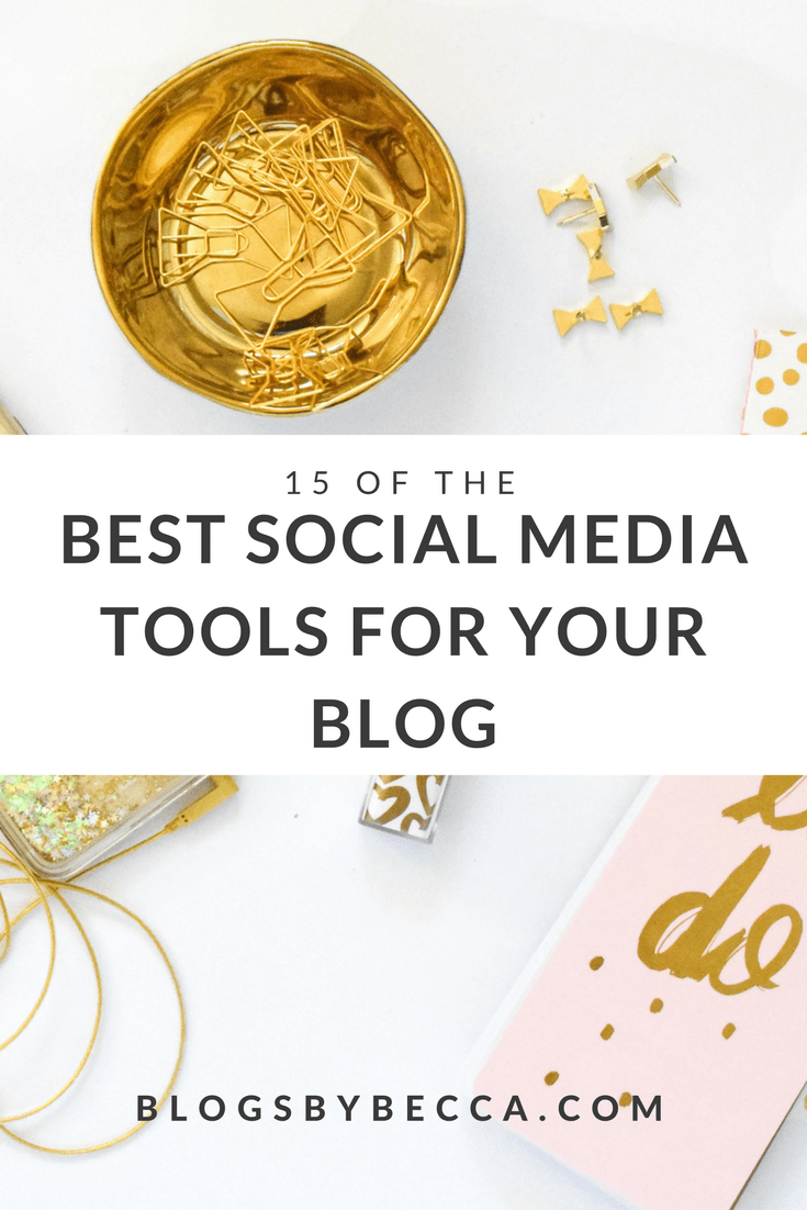 15 of the Best Social Media Tools For Your Blog! Use these tools to grow your Pinterest, Instagram, Facebook, and Twitter accounts! Click through to see the list! #blog, #blogger, #blogging, #blogtips, #instagram, #instagramtips, #pinterest, #pinteresttips, #socialmedia, #socialmediamarketing, #socialmediatips