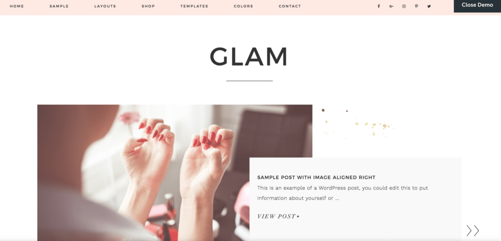 7 Girly Blog Themes Glam Pro