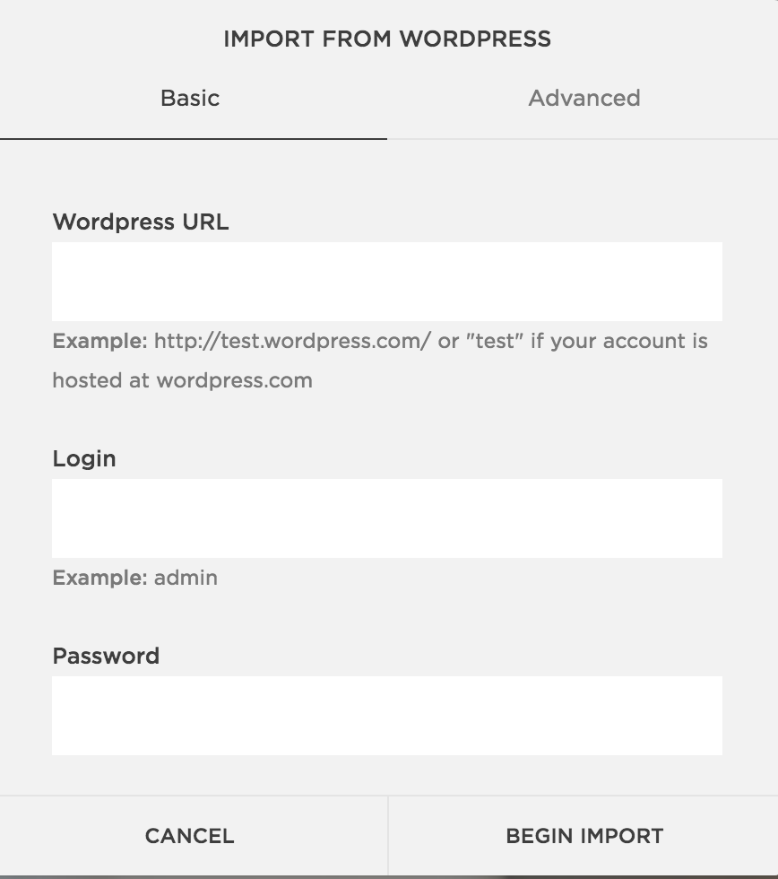 How to switch from WordPress to Squarespace import
