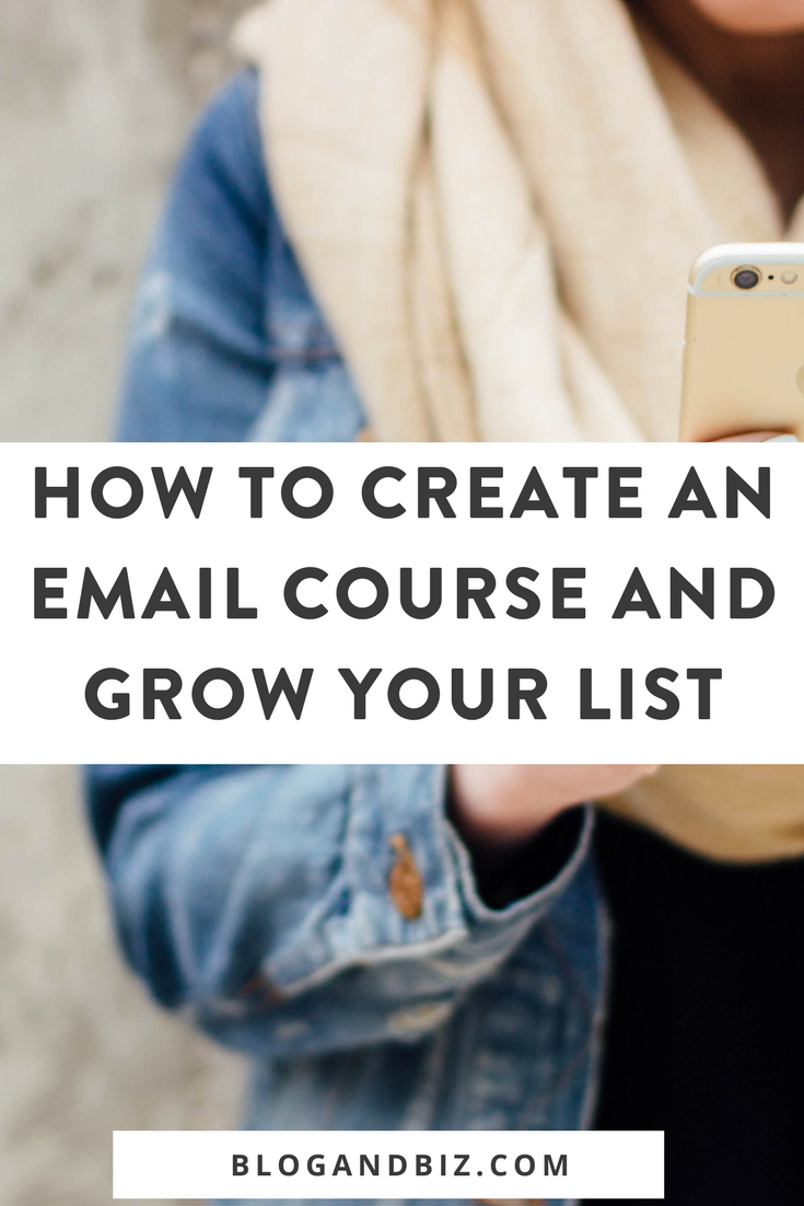 How to Create an Email Course and Grow Your List! These blog tips are great! Learn how to grow your email list with an email course! This is perfect for beginner bloggers! Click through to read the rest! #blogtips, #blogging, #blogandbiz, #emaillist