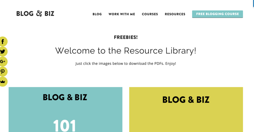 How to create a resource library in Squarespace