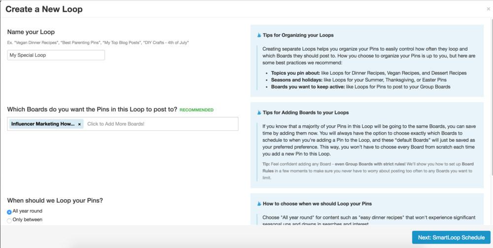 how to use tailwind's smartloop feature to grow your pinterest