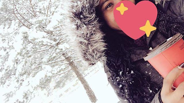 Walking in a winter wonderland ❄️😌 #snow