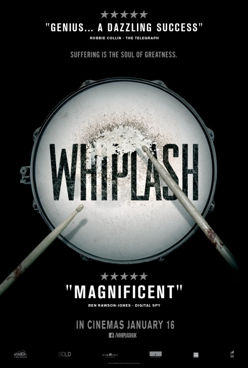 """- Whiplash (2014)2014 will go down as the year that the we were introduced to Damien Chazelle """"the director"""". Whiplash is the story that made jazz really cool in a decade that has yet to make an effort to keep it alive. There is an obvious love of music that shines in this film and within its director. Whiplash has a strength and coolness in its music and history. The story intrigues viewers who might not have been aware of jazz and after watching this film, will go check out what they've been missing. J.K. Simmons earned his first Oscar and, judging from his choices after this film, was the best role Miles Teller will ever take. Even if it was a peak for everyone involved, what a great way to peak."""