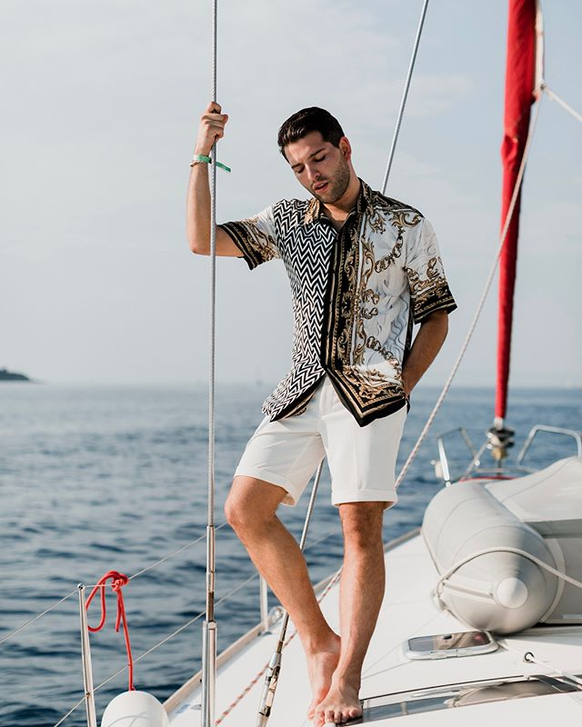 @gregorydava, king of the seas. 🌊 We're living our best lives out here at @theyachtweek! #theyachtweek
