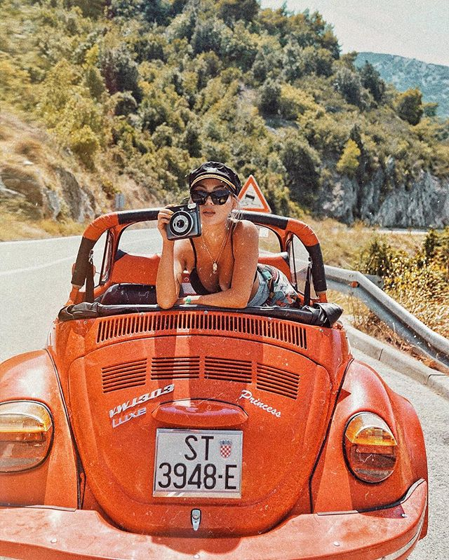 Took a road trip through Croatian mountains with @ellenvlora. 🚗 #superchargetrip