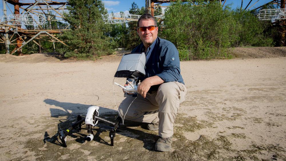 Philip Grossman flying a DJI Inspire 1