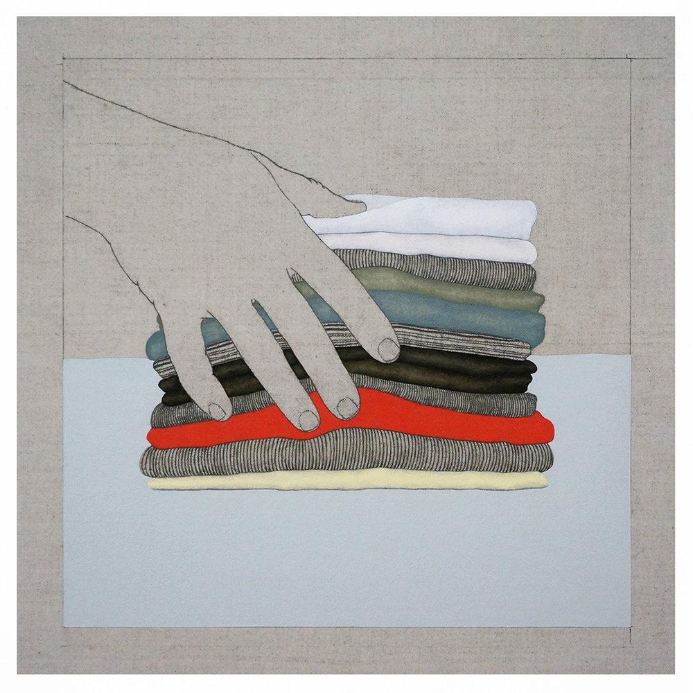 Fragmentos de una Casa Imaginaria 5   2017  Oil and graphite on linen  22 in x 22 in