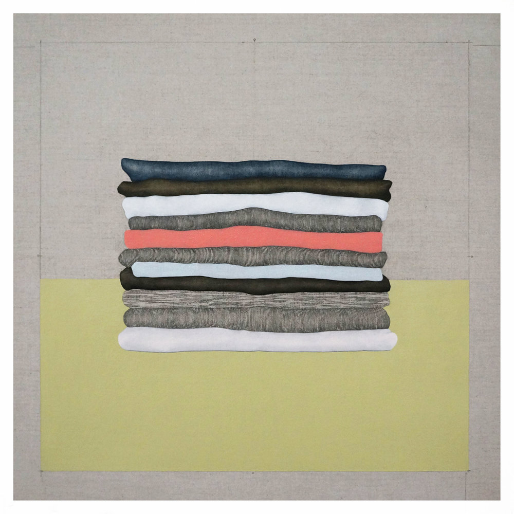Fragmentos de una Casa Imaginaria 6   2017  Oil and graphite on linen  22 in x 22 in