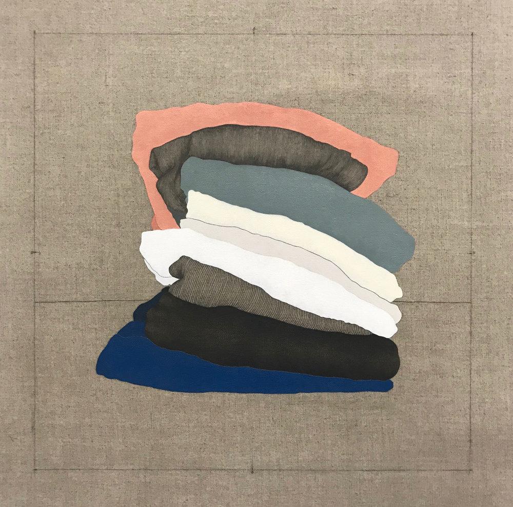 Fragmentos de una Casa Imaginaria 7   2018  Oil and graphite on linen  18 in x 18 in