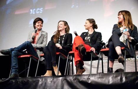 Tig Notaro, Stephanie Allynne, Ashley York, Kristina Goolsby at the Canadian Premiere of  Tig  at the 2015 Hot Docs International Documentary Festival.