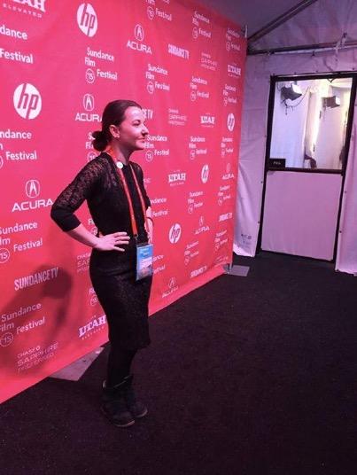 Ashley York at the World Premiere of Tig at the 2015 Sundance Film Festival. Ashley was one of nine women debuting a feature film at the 2015 Sundance Film Festival.