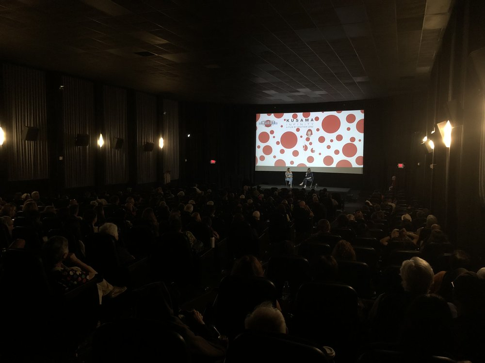 "Anjoum Agrama and Heather Lenz take audience questions at the ""Kusama: Infinity"" Screening"