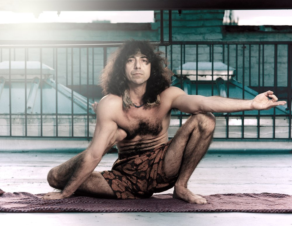 Yogadandasana. Danny Paradise New York 1999 Ashtanga Yoga photo by Kia Naddermier