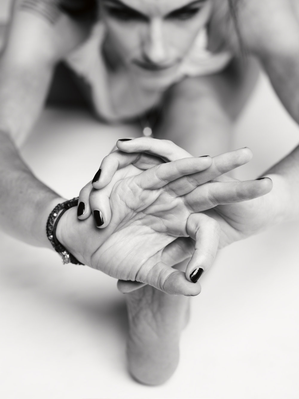 Yoga and religion by Greg Nardi. Mudra and Mala - Kia Naddermier photographed by Jan Welters