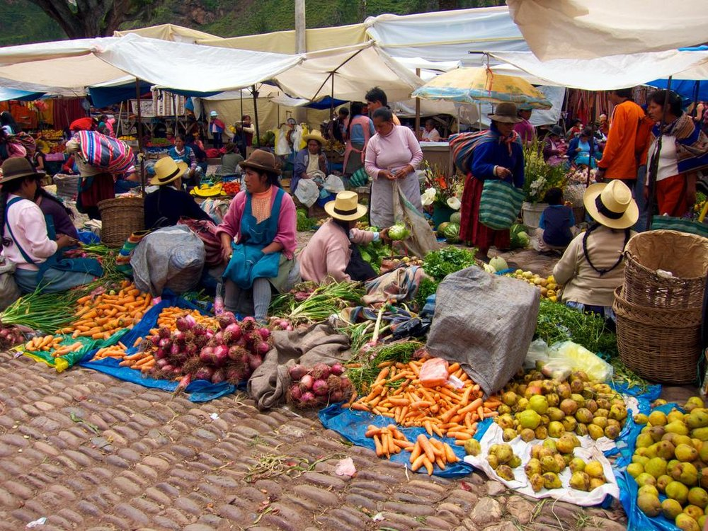 Local market in the Sacred Valley.