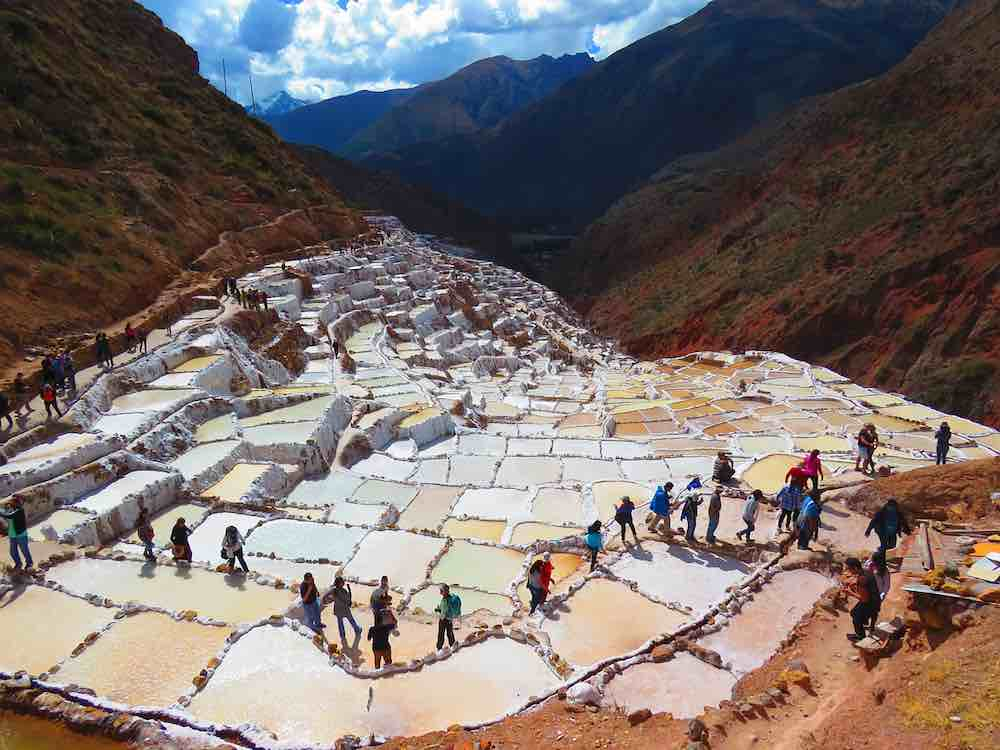 The salt flats of Maras
