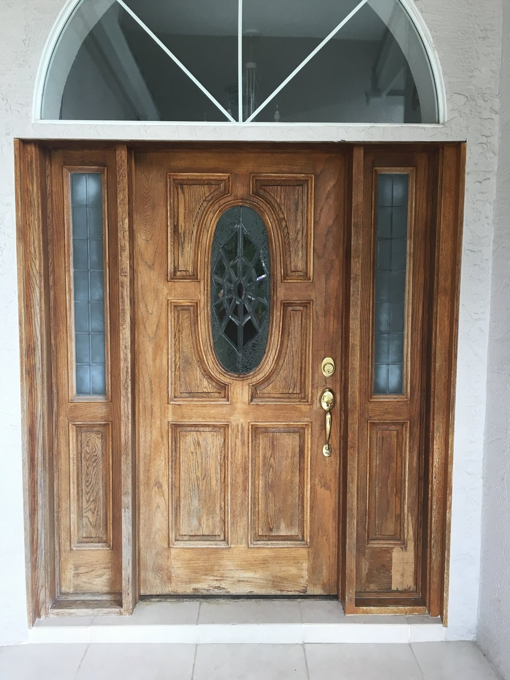 Wood Door Refinish / Before And After Pics U2014 Faux Finish And Fine Art By  Alex Kosek