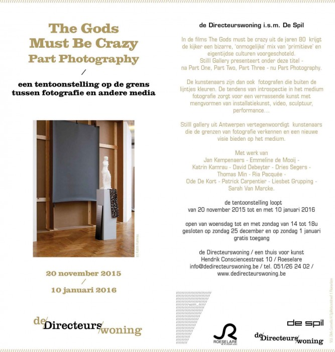 Groups exhibition at De Directeurswoning in Roeselaere organized by stilll gallery