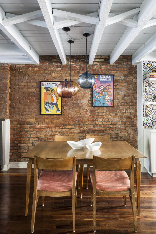 Psychedelic-60s-Posters-Art-Brick-Wall-Modern-Dining-Room-JMorris-Design-Brooklyn.jpg