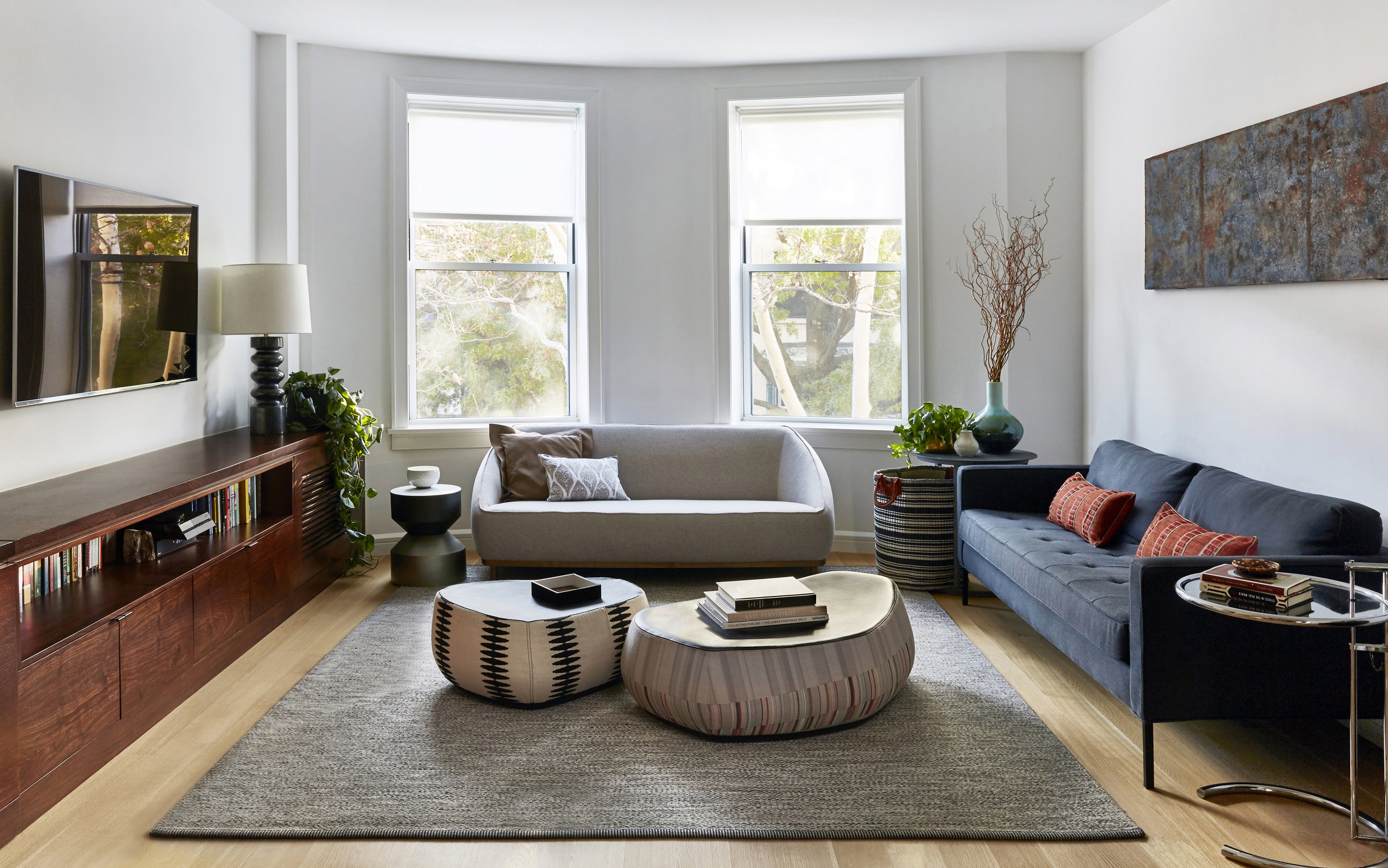 Cozy modern living room moroso pouf kasthall rug jmorris design interior designer brooklyn jpg