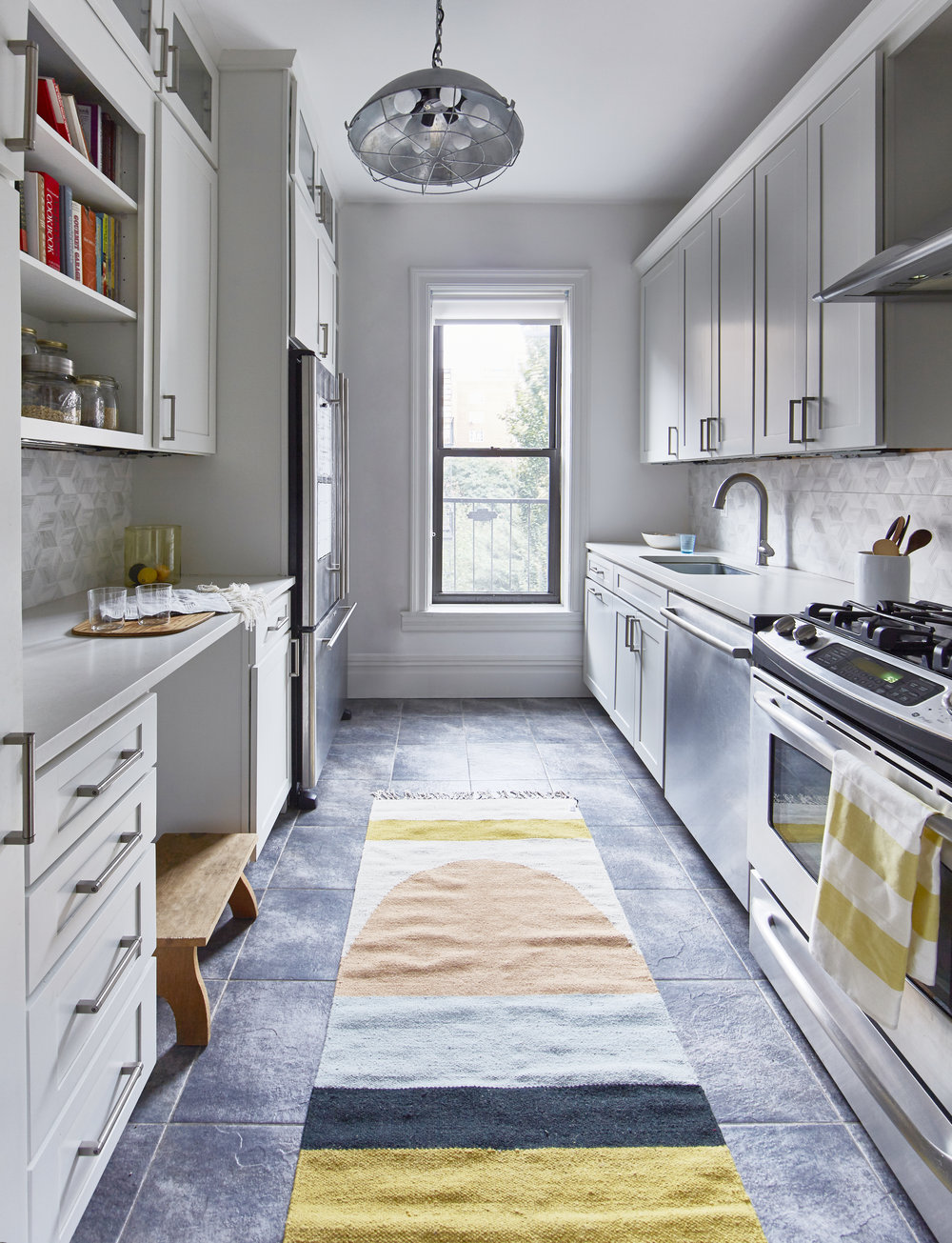 Cute Galley Kitchen Townhouse Park Slope Brooklyn JMorris Interior Design New York