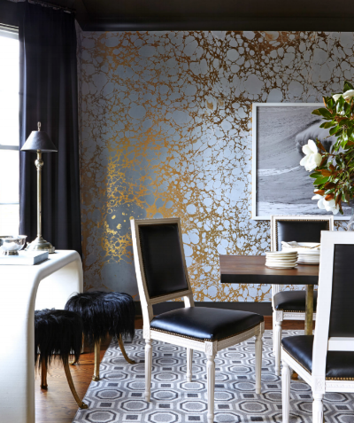 Calico Wallpaper Gold Wabi Collection