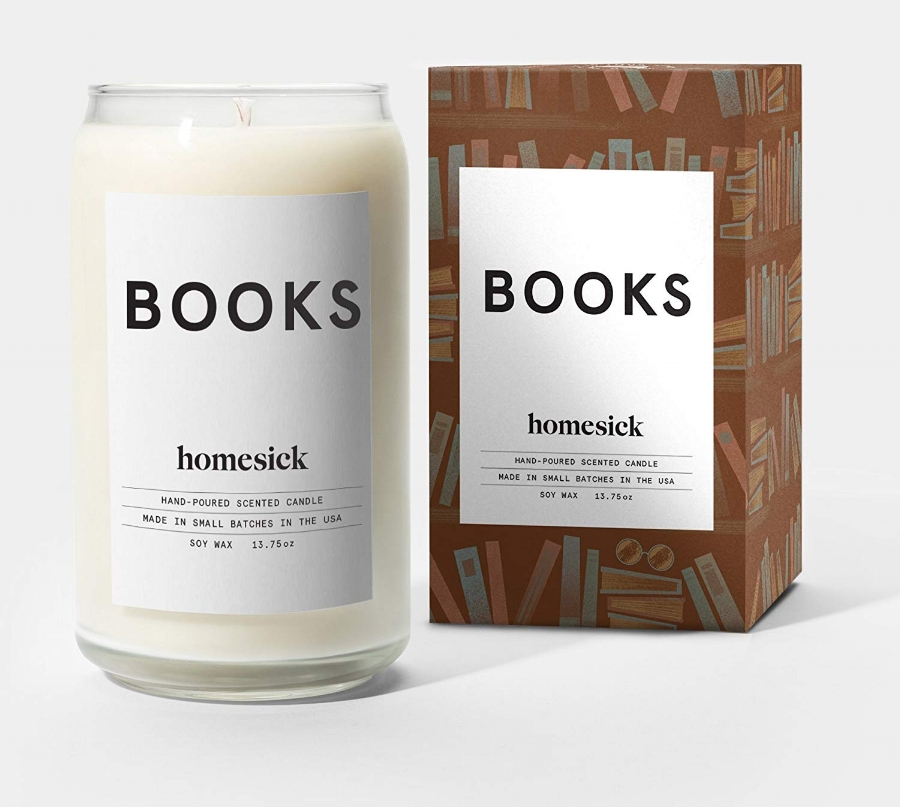 Homesick candles  create nostalgic scents conjuring beloved things and places. Hand-poured, made of soy wax in the USA. Image via  amazon.com