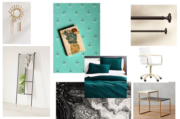 Eye See You - A bold but whimsical option. Black + white (SO New York!), with teal accents. A subtle nod to the empowerment of an individual - a perfect theme for being on the brink of adulthood!