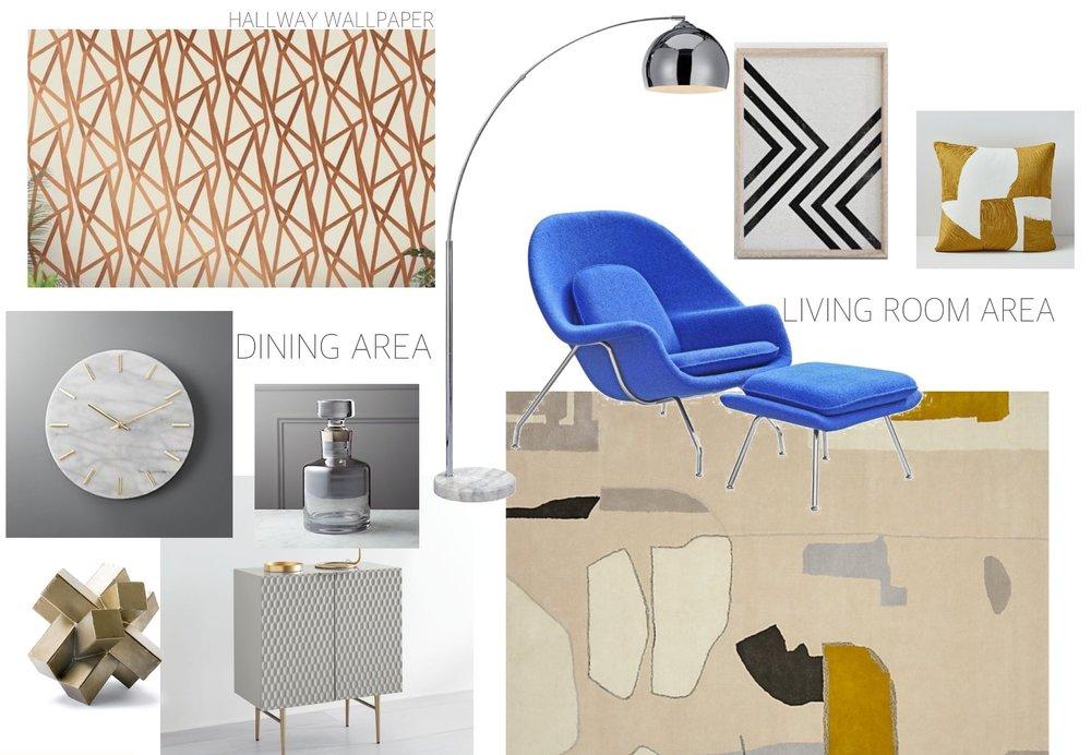 Mood-Board-Brooklyn-Condo-E-Design-Retro-Inspired-Gold-Blue