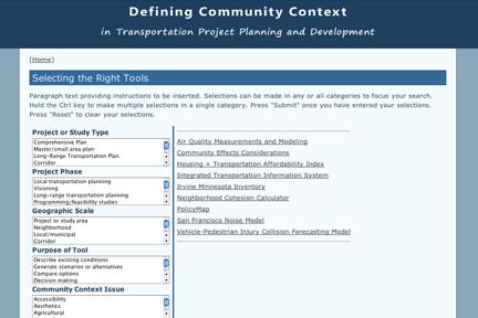 Defining Community Context Tool